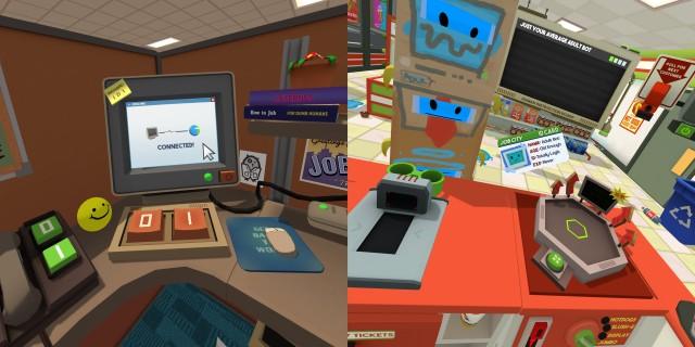 """Screenshot: Links: Der Computer braucht nicht viele Tasten. Rechts: Im Spiel stecken viele Details, wie auf diesem """"Ausweis""""."""