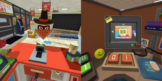 Screenshot: Links: Im Supermarkt wird man ausgeraubt. Rechts: Memes gehören auch zum Humor-Repertoir