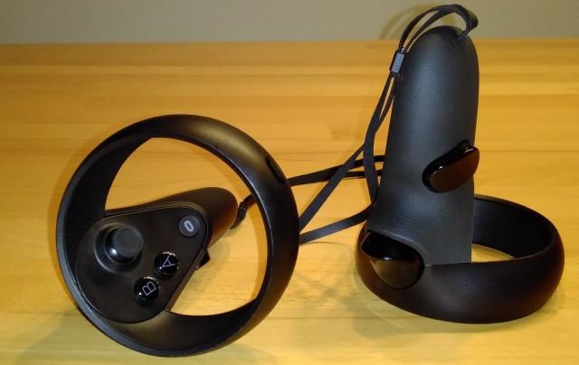 Screenshot: Die Controller der Oculus Rift S
