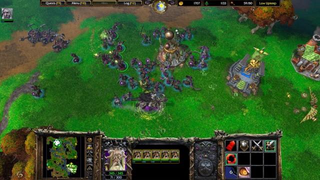 Screenshot: Große Schlachten gibt es in WarCraft 3 eher selten